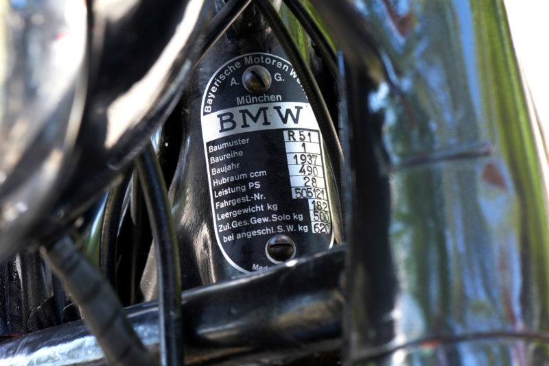 BMW R51, BMW R 51, plaquette