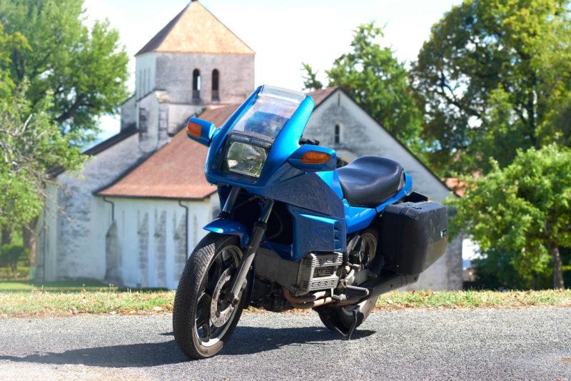BMW K100RS, K 100 RS, bleue, 3-4