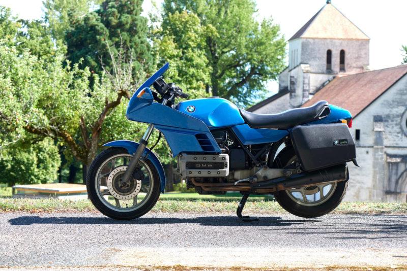 BMW K100RS, K 100 RS, bleue, ga