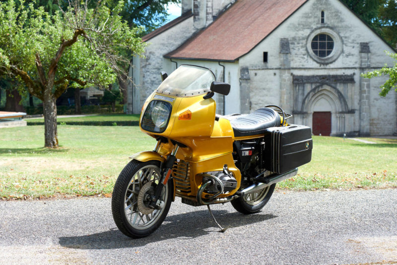 BMW R100RS, R 100 RS, gold, 3 4