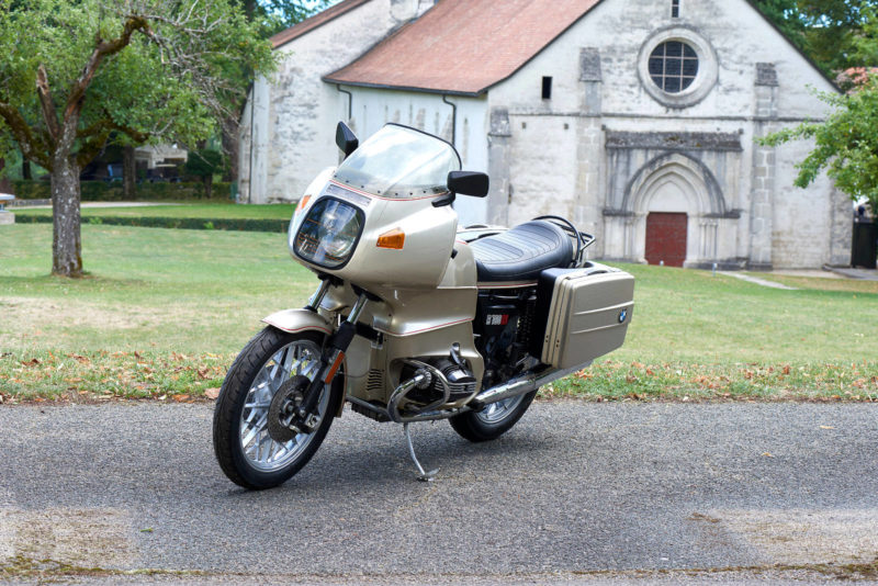 BMW R100RS, R 100 RS, grise, 3 4
